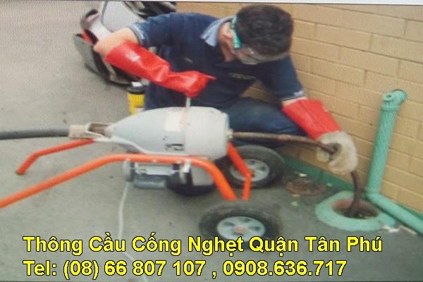 Thông cầu cống nghẹt Quận Tân Phú