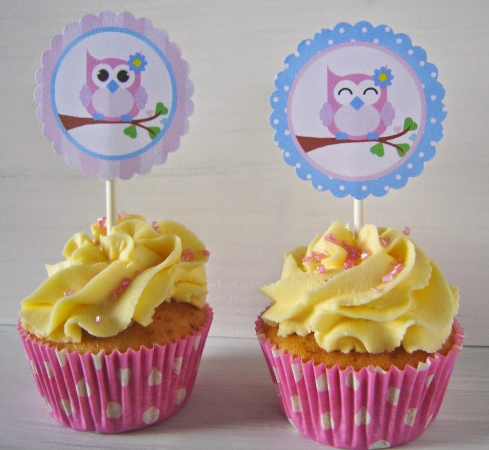 Lief Uiltje cupcake toppers www.Annekoendigitaal.nl