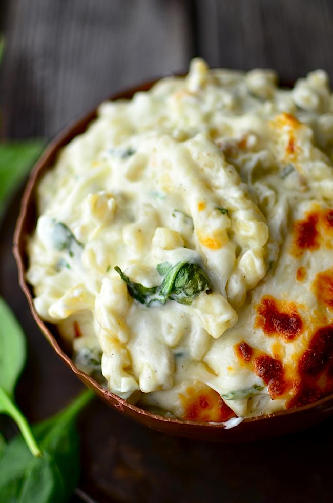 Yammie's Noshery: Spinach Artichoke Macaroni and Cheese