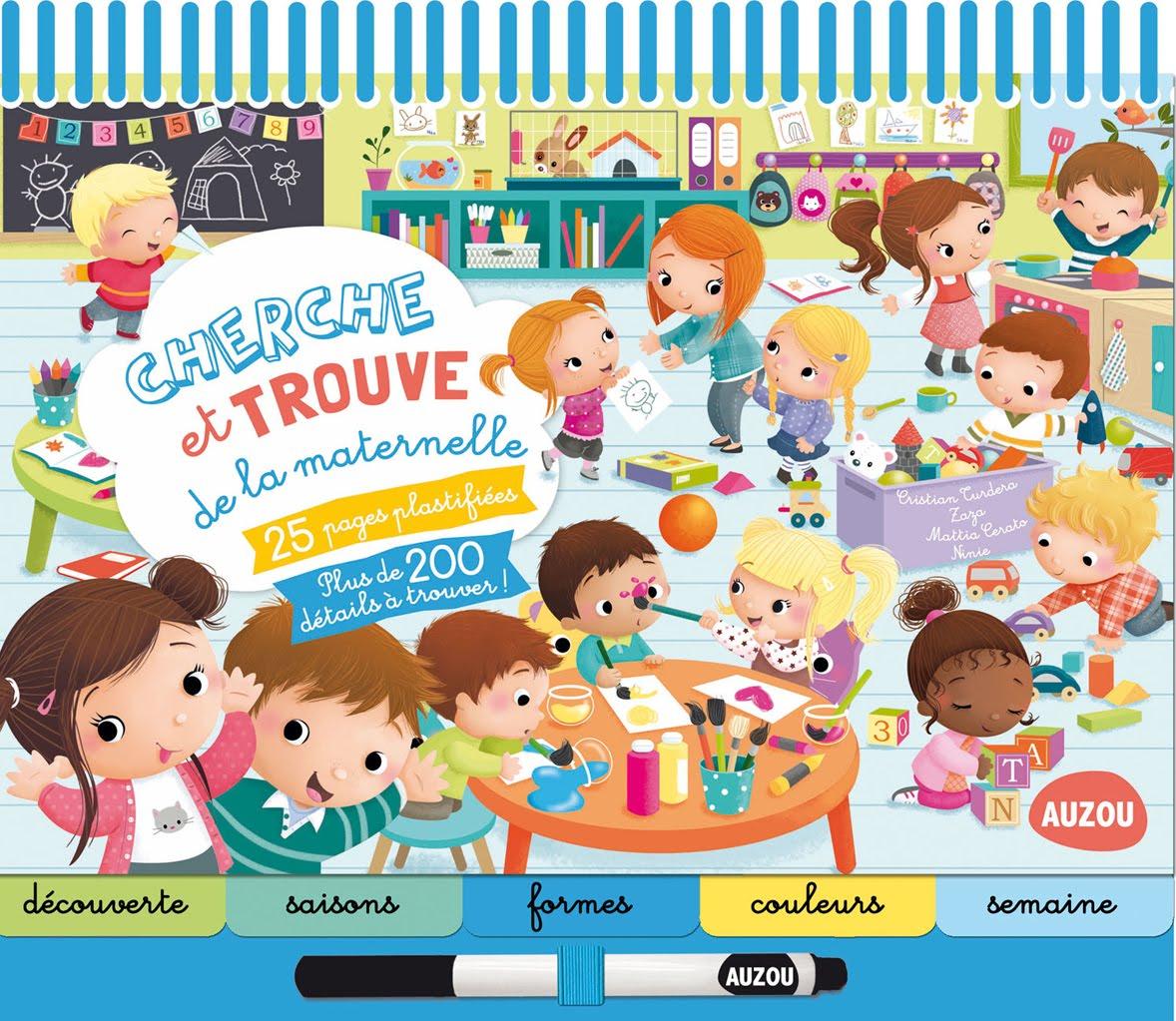 """""""Cherche et trouve de la maternelle""""- Auzou"""