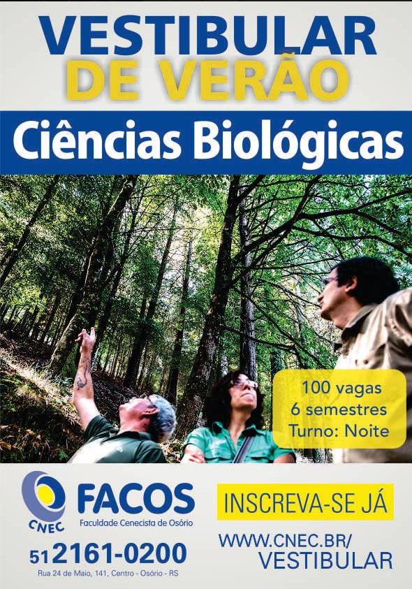 Vestibular Biologia FACOS