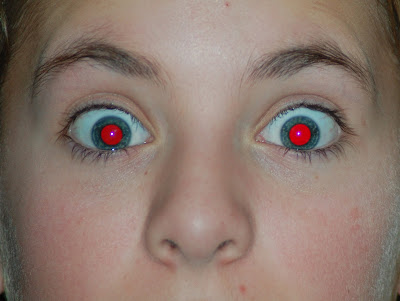 red eye effect in photos