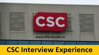 CSC Interview Experience