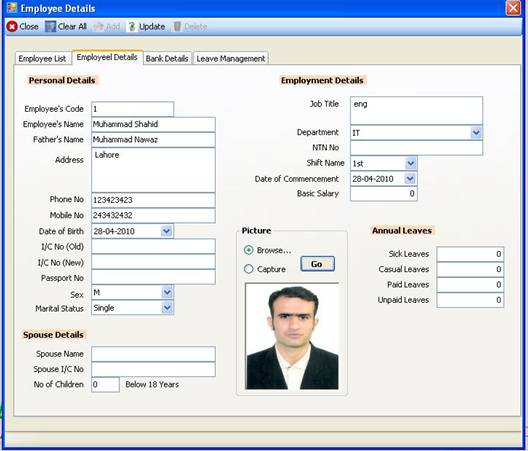 Employee Info And Payroll System Project Topic Projects