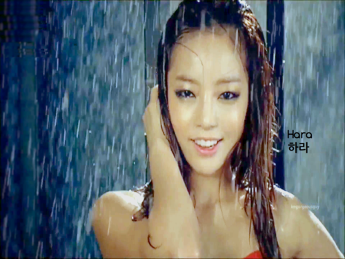 "SEXY GOOHARA KARA ""Rain Wet"""
