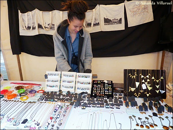 Jewelry booth at the Saturday market in Prenzlauer Berg