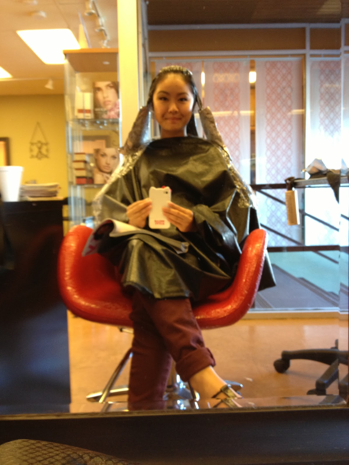 Perming your hair straight - Once The Application Of The Conditioner Was Done It Needed To Be Wrapped With Plastic Wrap And Sit For A While This Stuff Was Unbearable