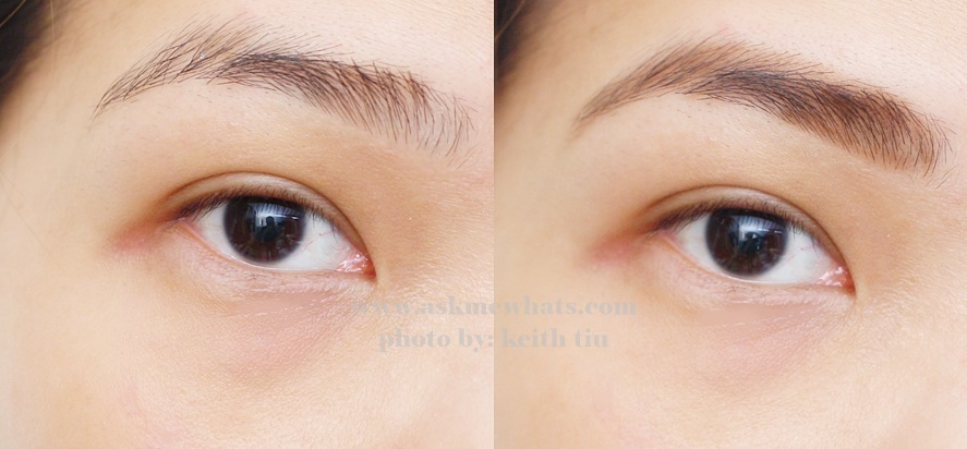 before and after photo using Heavy Rotation Powder Eyebrow and Nose Powder (02 Natural Brown) Review