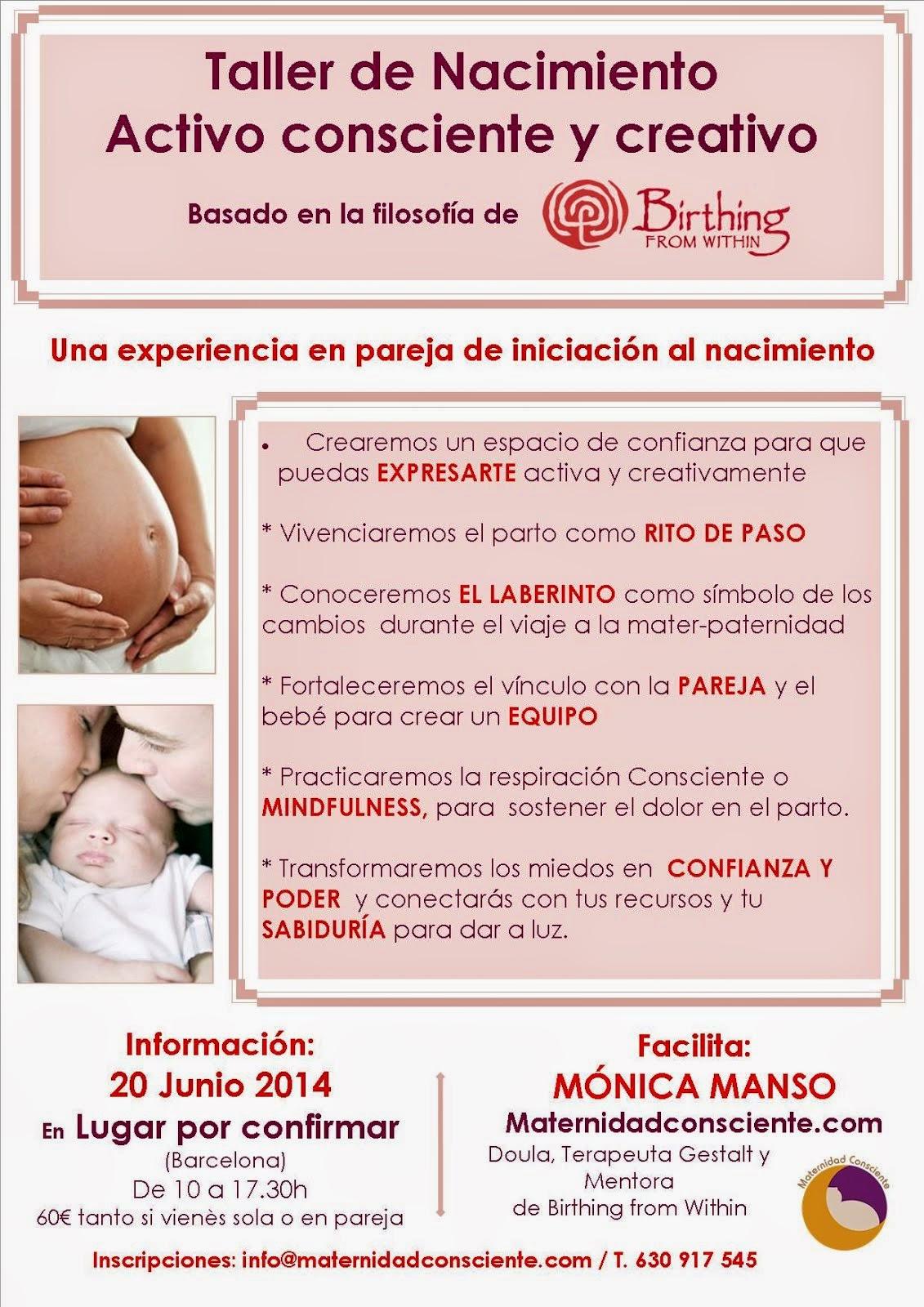 Taller de embarazo Activo Consciente y Creativo · 20 Junio 2015 · Barcelona