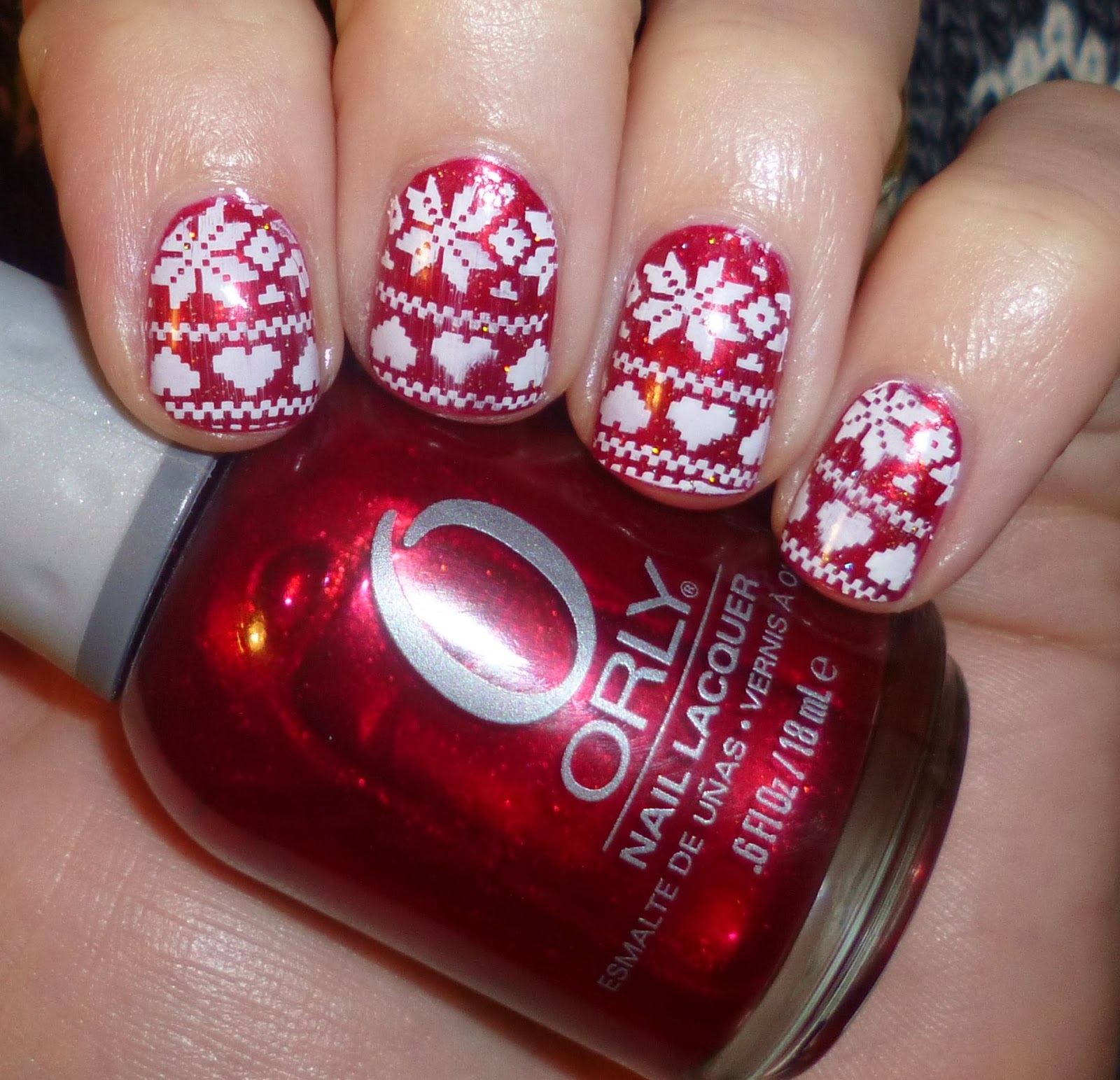 For These Pretty Nails I Started With A Simple Two Coats Of Orly Torrid Is Bold Red Foil Finish And Just The Perfect Base All