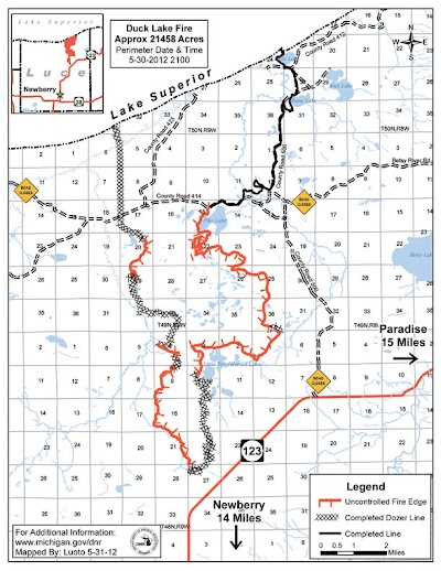 Cooler weather aids Duck Lake Fire suppression efforts