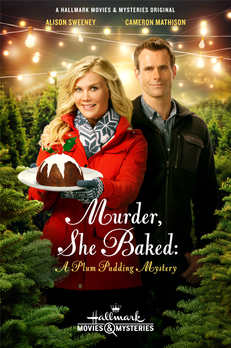 murder she baked a plum pudding mystery image via hallmark crown media - Candace Cameron Christmas Movies