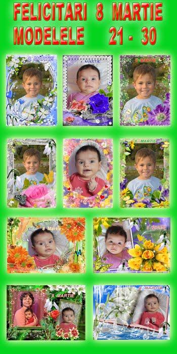 Felicitari  8  Martie  -  Modelele  21 - 30