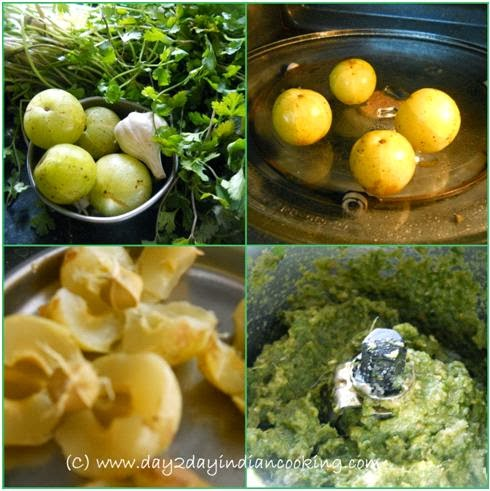 steps involved in recipe of amla chutney