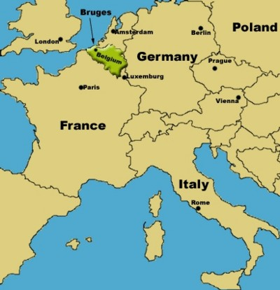 Where Is Belgium Map Of Europe