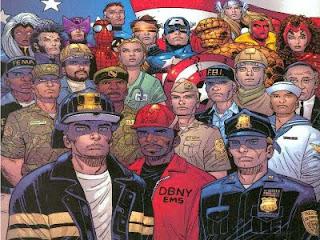 marvel heroes bomberos policias 11-S world trade center