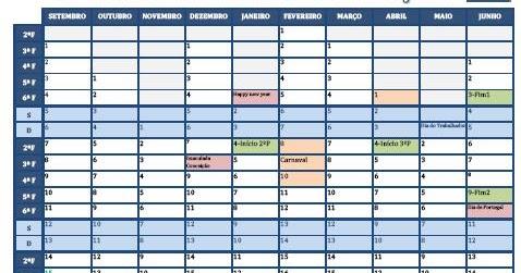 The Blog Teacher: Calendário escolar 2015-16