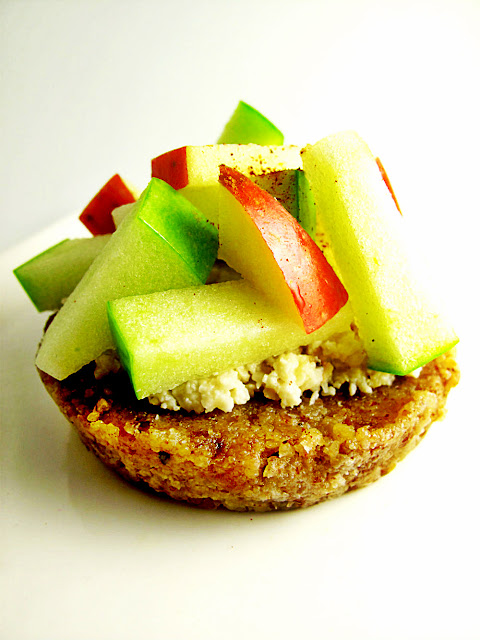 raw food recipe ploughmans apple tart cheese healthy gluten free