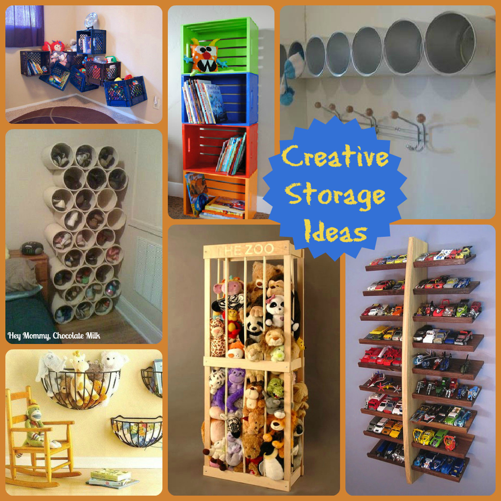 Hey mommy chocolate milk 20 creative storage ideas for Creative shelf ideas