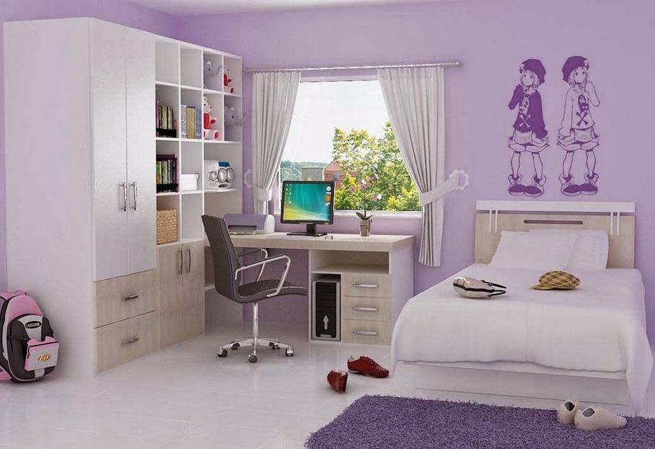 desain dekorasi ruang kamar tidur untuk anak perempuan