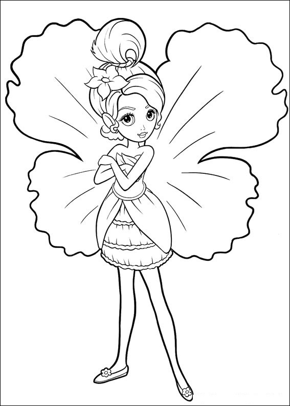 BARBIE COLORING PAGES FAIRY BARBIE