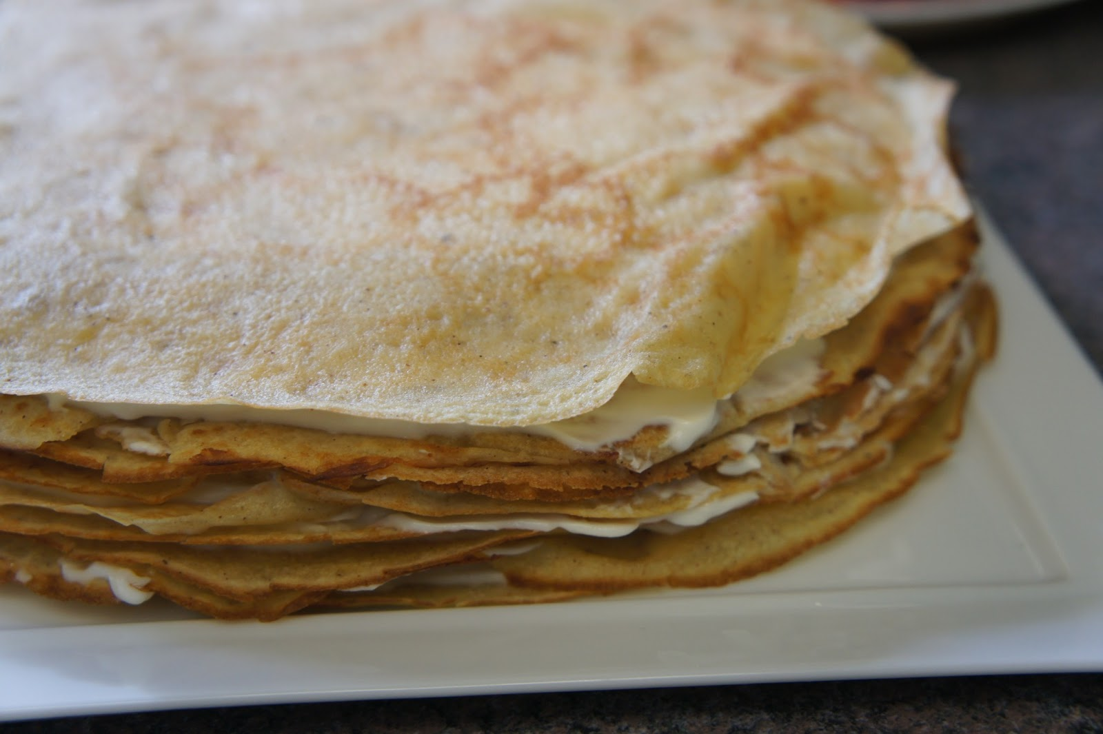 Time and Lemonade: Banana Crepe Cake with Butterscotch