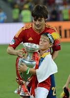 David Silva y su sobrino
