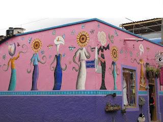 Fachada mural en Ajijic