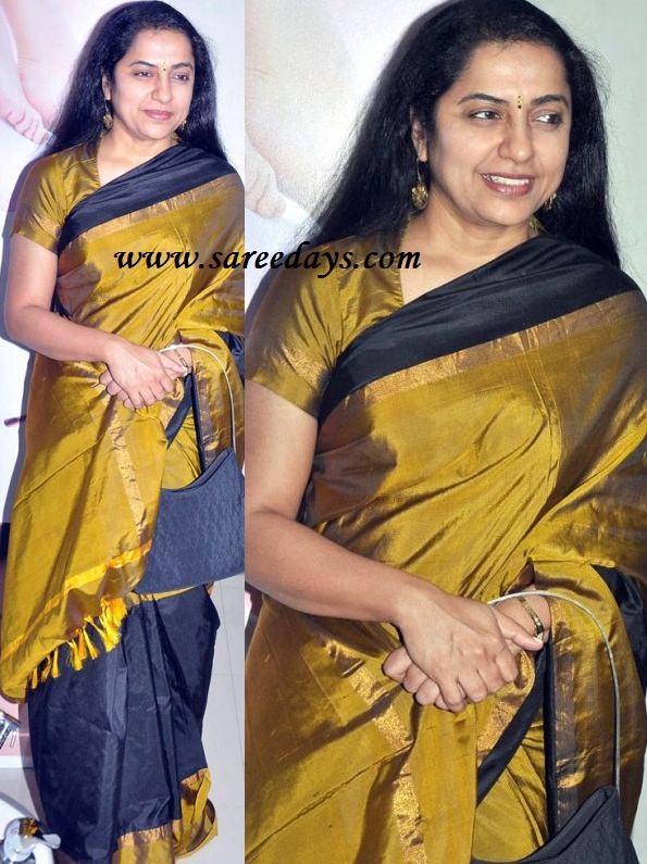 Latest saree designs suhasini in green and black uppada pattu saree checkout suhasini in green and black uppada pattu saree with small gold and black border on pallu side and gold and green border on the other side and altavistaventures Image collections