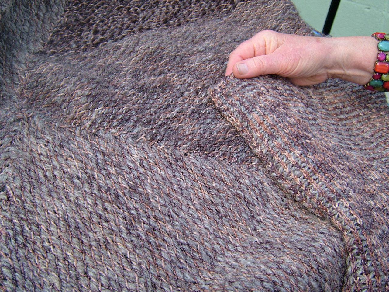 SpinningSchool: Knit weave stitch