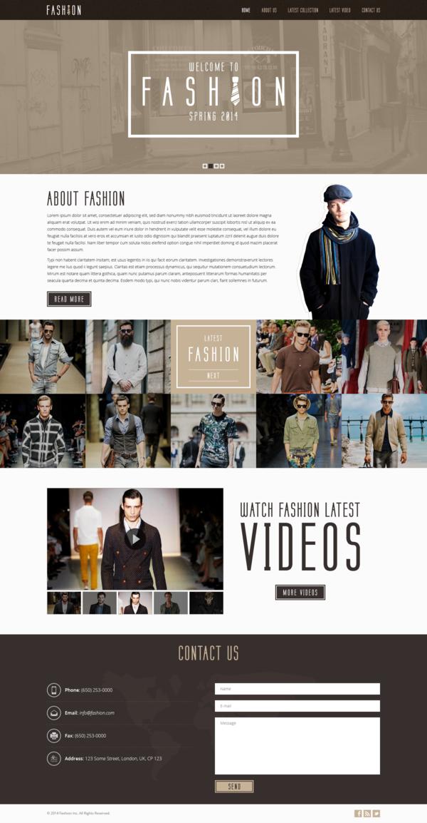 Free Fashion Template PSD