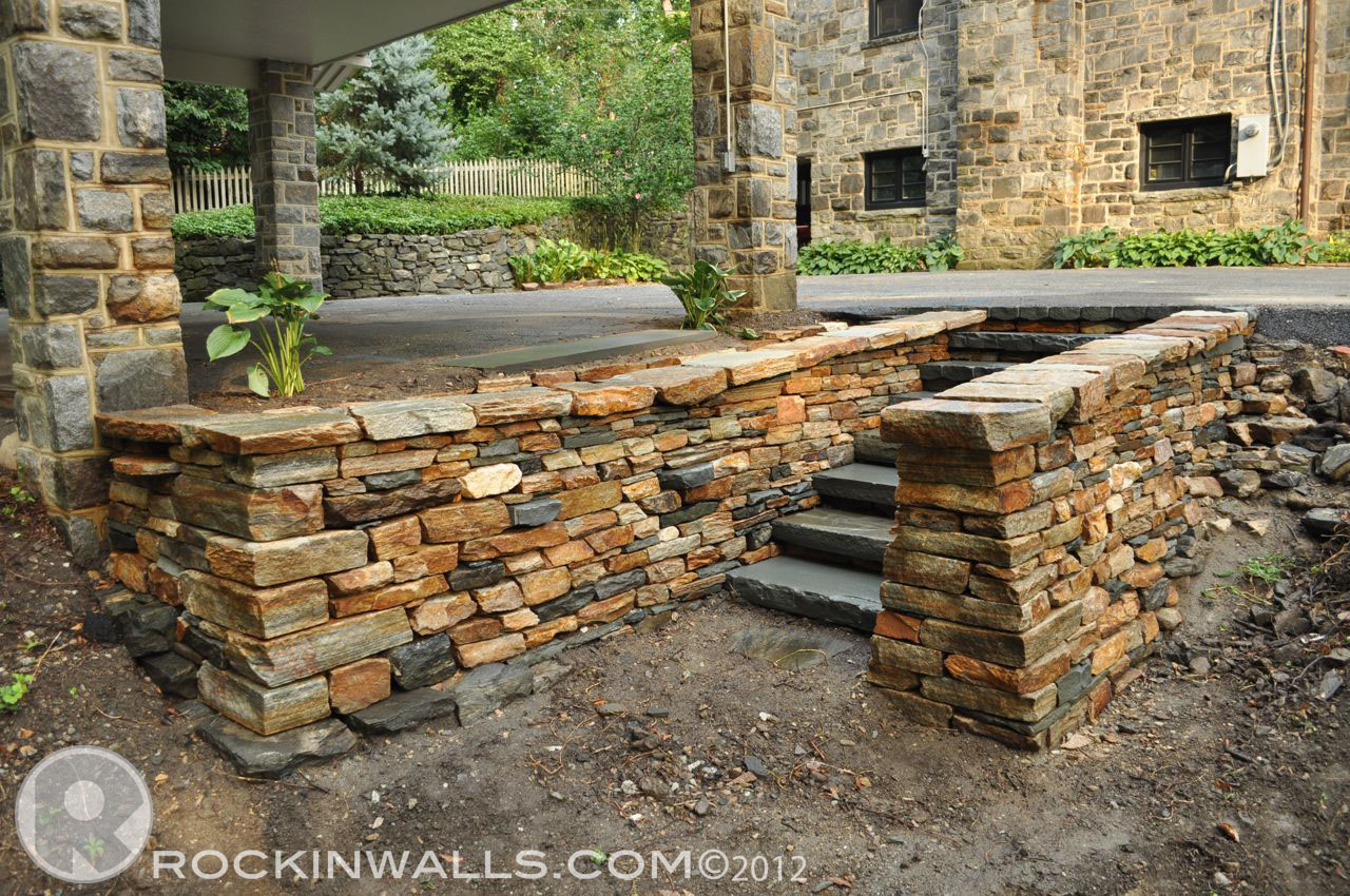 Stone Wall Construction : Rockin walls beechdale road roland park md finished