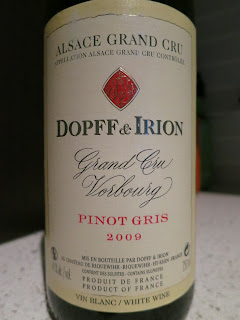 Label photo of 2009 Dopff & Irion Vorbourg Pinot Gris