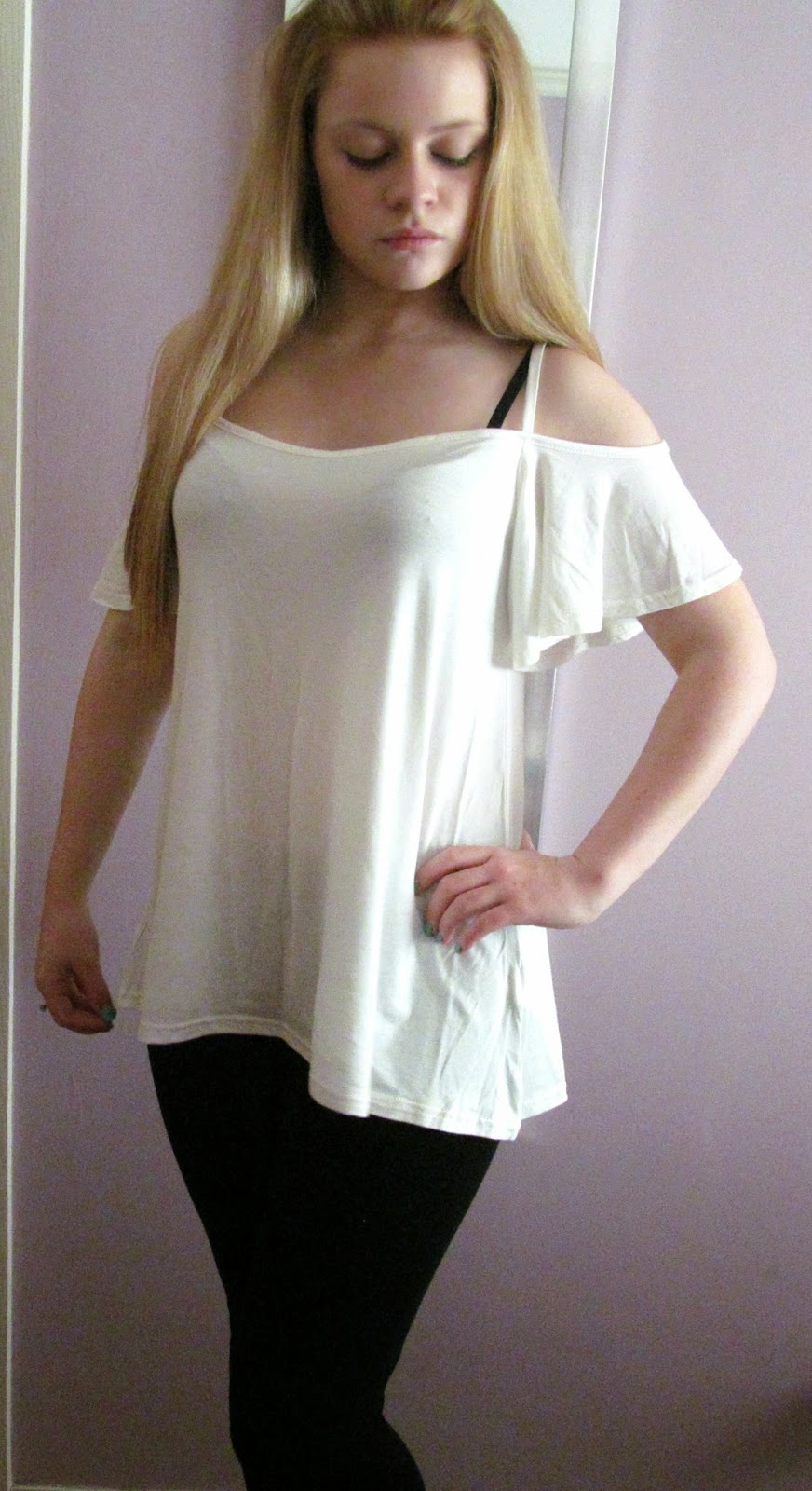 boohoo swing sleeve top