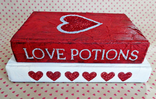 altered books for valentine's day