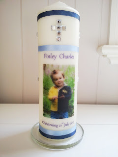 chistening candle handmade baptism personalised