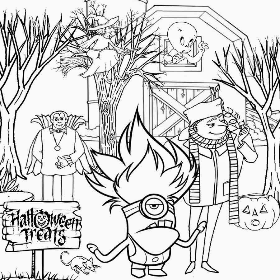 minions coloring pages halloween - photo#11