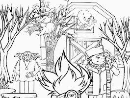 Complex Halloween Coloring Pages