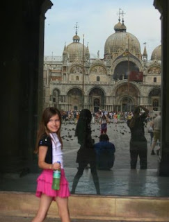 girl in St Marks Square, Venice