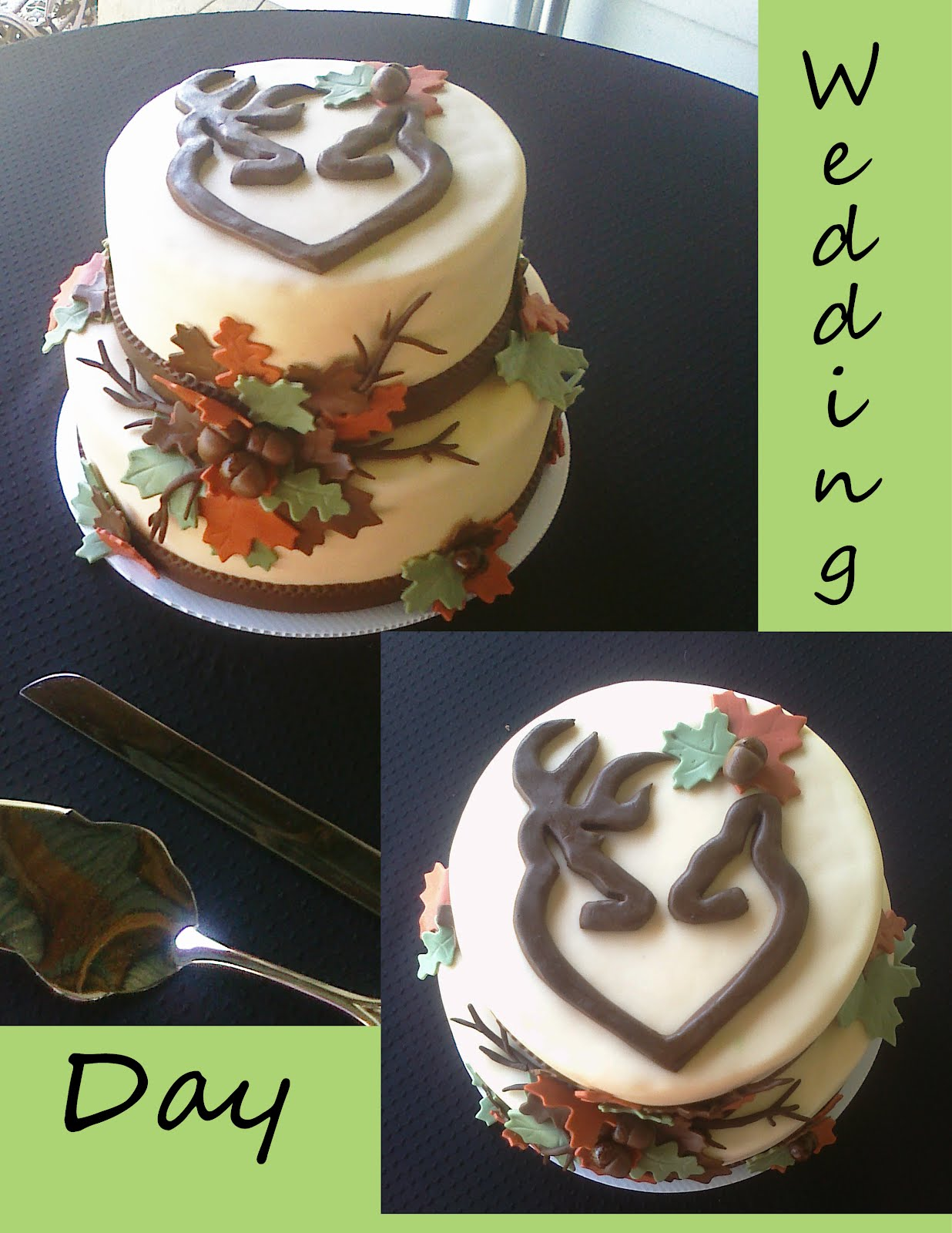 Browning Buck and Doe Cake Topper