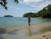 El primer baño en el Caribe