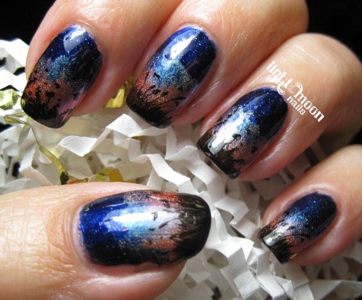Light Of The Moon Nails Sunset Nail Art