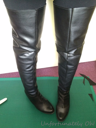 DIY cosplay costume boot covers & Unfortunately Oh!: DIY Boot Covers