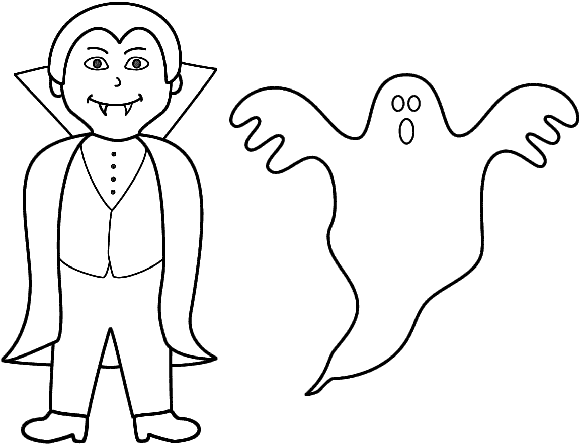 halloween ghosts coloring book pages - photo#10