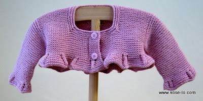 chaquetita de algodón para bebé
