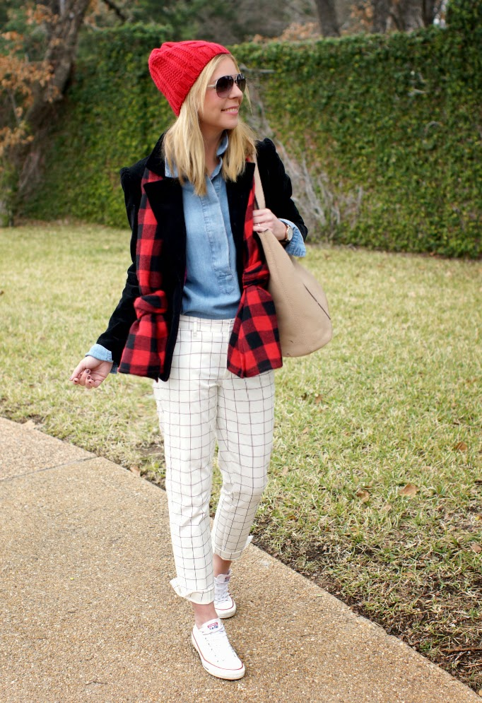 Favorite color palette red, black white and denim