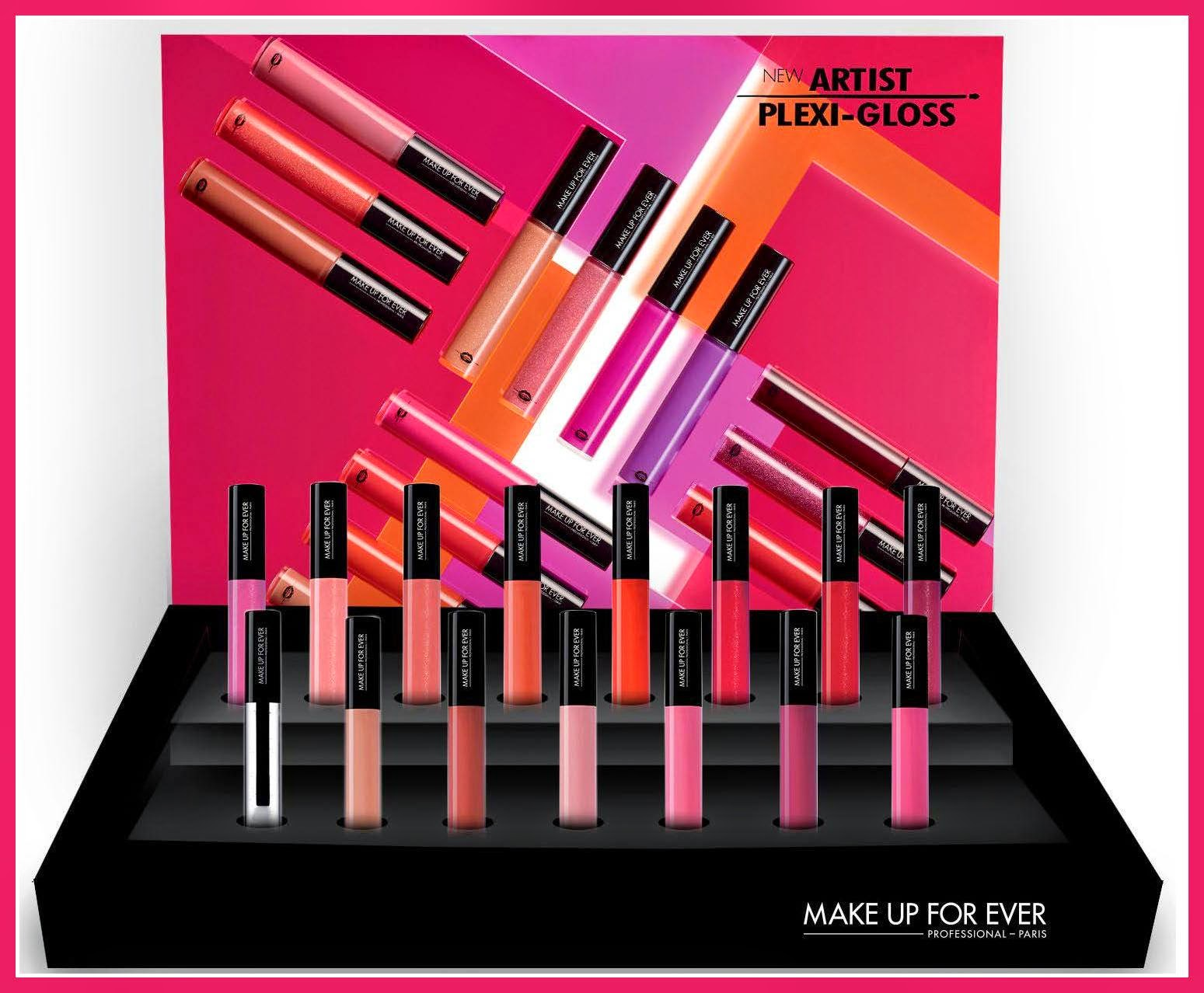 MAKE UP FOR EVER - Artist Plexi-Gloss - press - mufe - gloss - new entry - dany sanz - lucida labbra