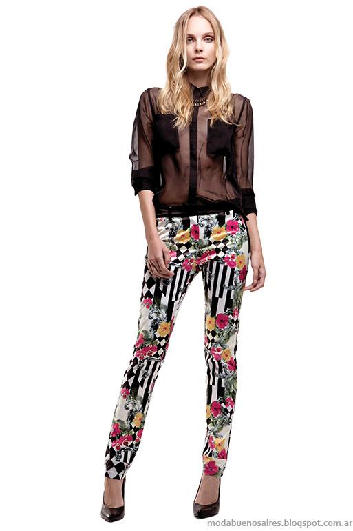 Basement primavera verano 2014. Falabella pantalones Moda verano 2014.