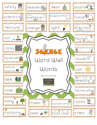 Science Words Science word wall