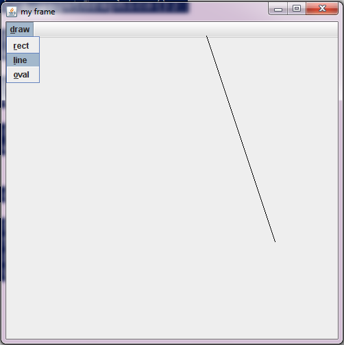 Drawing Lines With Mouse In Java : Java programs creat menu bar in swing and draw